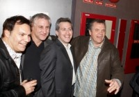 Producer Sal Locurto, Producer and General Manager of Voom HD Pictures Greg Moyer, Director Bruce David Klein, and singer Meatloaf pose for a photo during the after party.